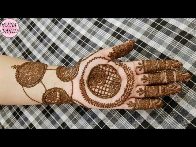 Beautiful Gol Tikki Mehndi Design 2018 Heena Vahid Times Bull