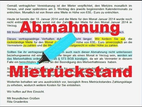 Mieter Zahlt Nicht Hilfspaket Teil 1 Mieter Abmahnen Mustertext