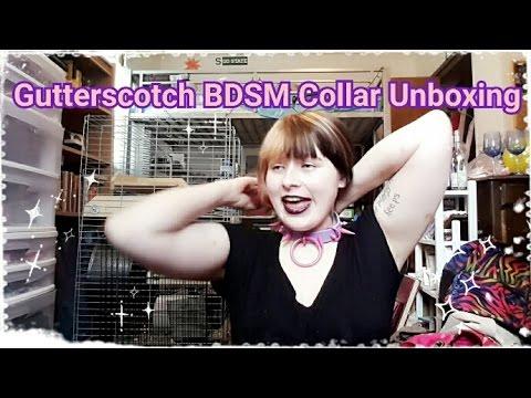 Gutterscotch BDSM Collar Unboxing - Brand New Store!