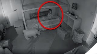 Mom Is Worried How Baby Keeps Disappearing From Crib, So She Installs A Security Camera To Find Out