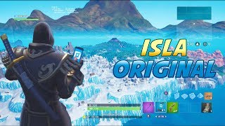 Go to THE ORIGINAL and SECRETA island in CREATIVE MODE with your cell phone Fortnite
