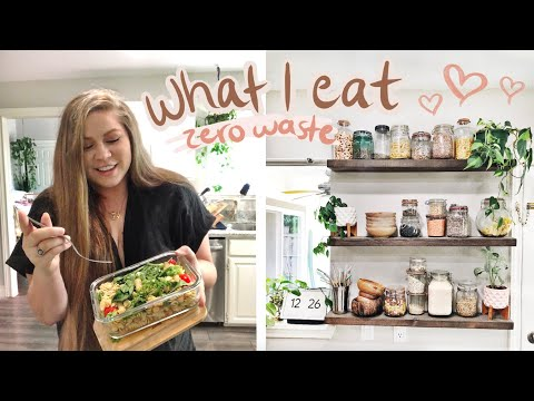 zero waste what I eat in a day & PANTRY ESSENTIALS... bc you asked