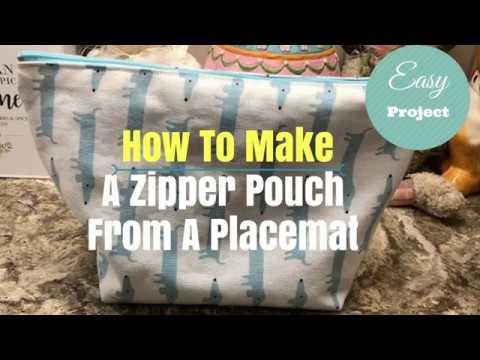 Sew A Zipper Pouch From A Placemat