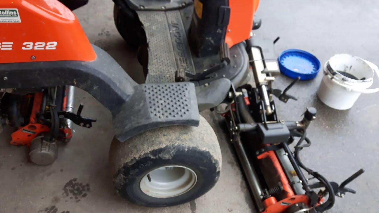 Jacobsen Eclipse 322 reel mower built in backlap / sharpen mode
