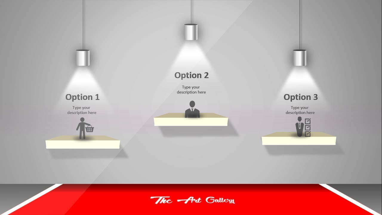 3 Steps Exhibition Powerpoint Template Youtube
