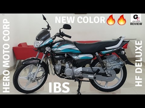 2019 Hero Hf Deluxe Ibs Heavy Grey With Green Review Features Specs Price Youtube