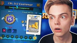 AM LUAT 2 LEGENDARE SI 220.000 GOLD LA CHALLENGE! - Clash Royale Romania