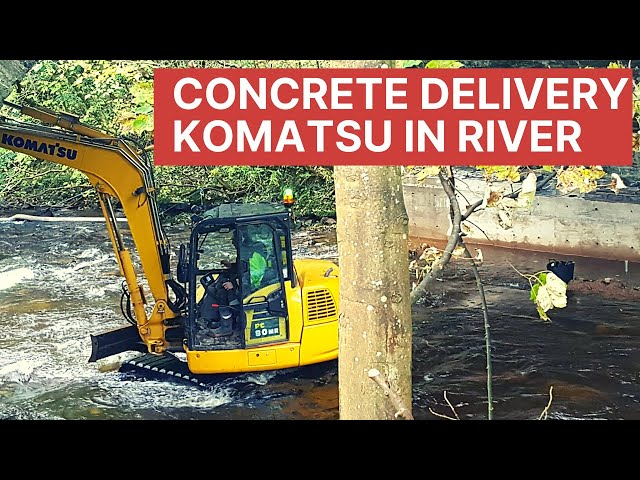 Concrete Delivery Komatsu in River British Trucking