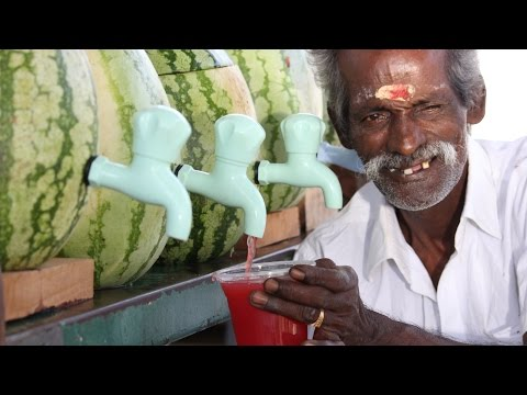 Thumbnail: 100 KG Watermelon juice prepared by my DADDY for Homeless Peoples / Village food factory