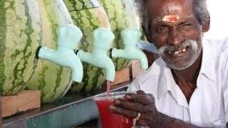 100 KG Watermelon juice prepared by my DADDY for Homeless Peoples / Village food factory thumbnail