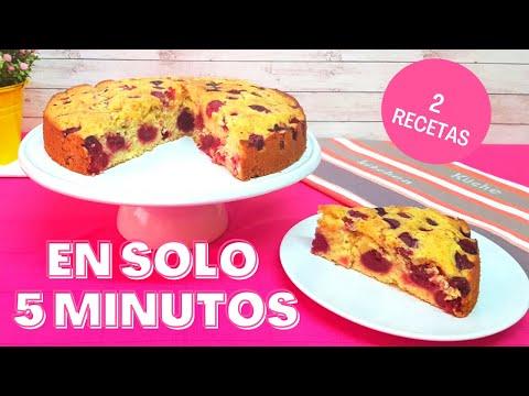 BIZCOCHO DE CEREZAS - Para Hacer en 5 Minutos