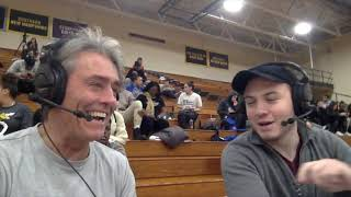 Halftime interview with former men's basketball coach Art Luptowski