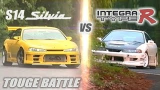 "[ENG CC] ""Circuit Club"" Integra R vs. ""Champ"" S14 Silvia Touge Battle HV57"