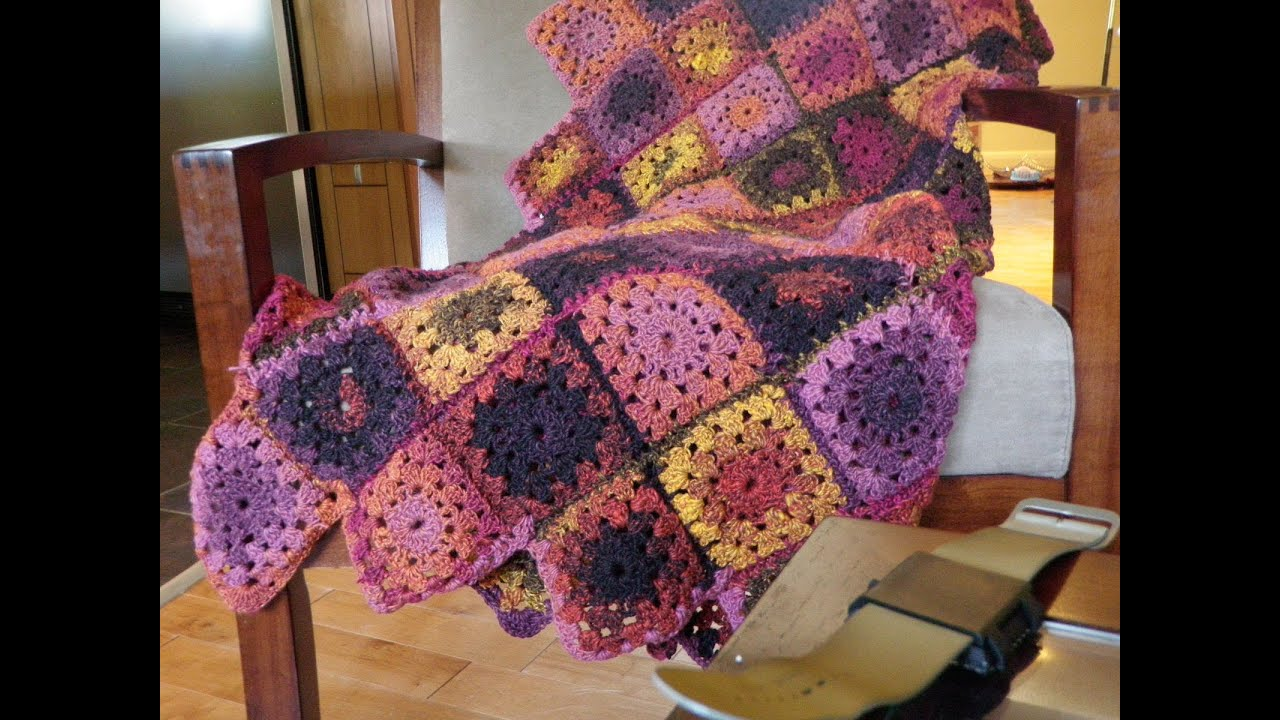 How to Crochet An Afghan: Granny Square Afghan - YouTube