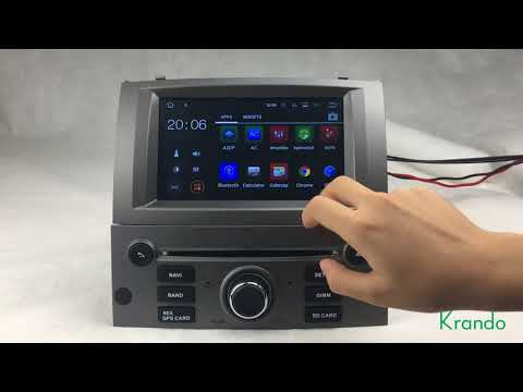 Krando Android 7.1 car dvd gps radio multimedia for peugeot 407 2004-2010 KD-PG407
