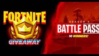 fortnite season 4 battle pass giveaway