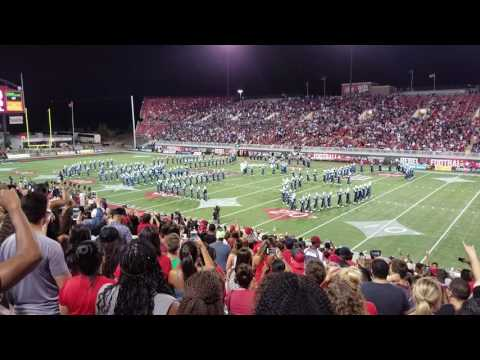 Jackson State University Marching Band performs at UNLV Vs JSU Football game
