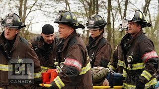 Taylor Kinney, Jesse Spencer BTS 'Chicago Fire' Ep 709 | CHICAGO FIRE