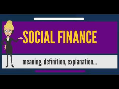 What is SOCIAL FINANCE? What does SOCIAL FINANCE mean? SOCIAL FINANCE meaning & explanation