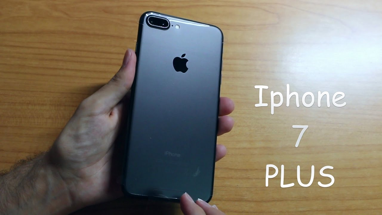 Unboxing Apple iPhone 7 Plus Negro mate - YouTube