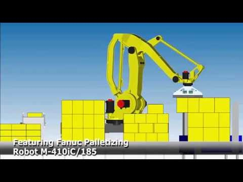 Robot Palletizing and Case Conveying System - JAE Automation