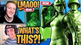 "Tfue & Streamers React to *NEW* ""TOY TROOPER"" & ""PLASTIC PATROLLER"" Skins! - Fortnite Moments"