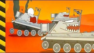 Cartoon tanks. Panzer cartoon für kinder. Autos monster kinder.