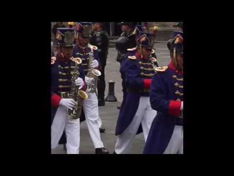 Quito Ecuador changing of the guard