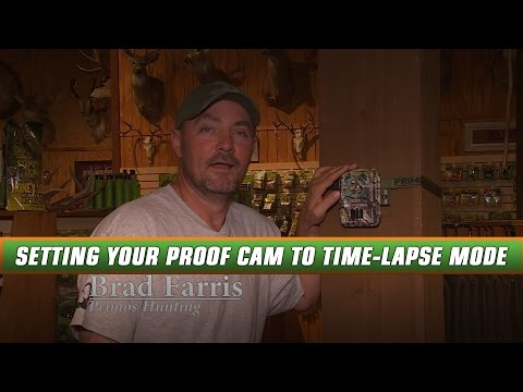 How To Setup Your New Primos Proof Cam To Time-lapse Mode