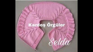 Kolları fırfırlı bebek yeleği robası-Anlatımlı bebek yeleği-Wee Knit Vest