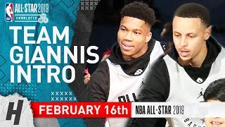 Team Giannis 2019 NBA All-Star Practice Introducti...