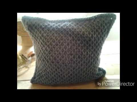 hæklet sofapude