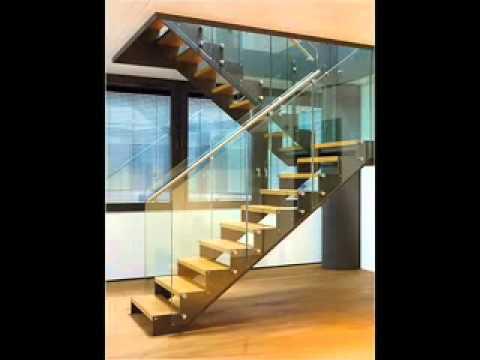 Frabicacion de escaleras de madera metal acero cristal - Escaleras de cristal y madera ...