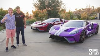 IndyCar Driver Graham Rahal and his PURPLE Ford GT!