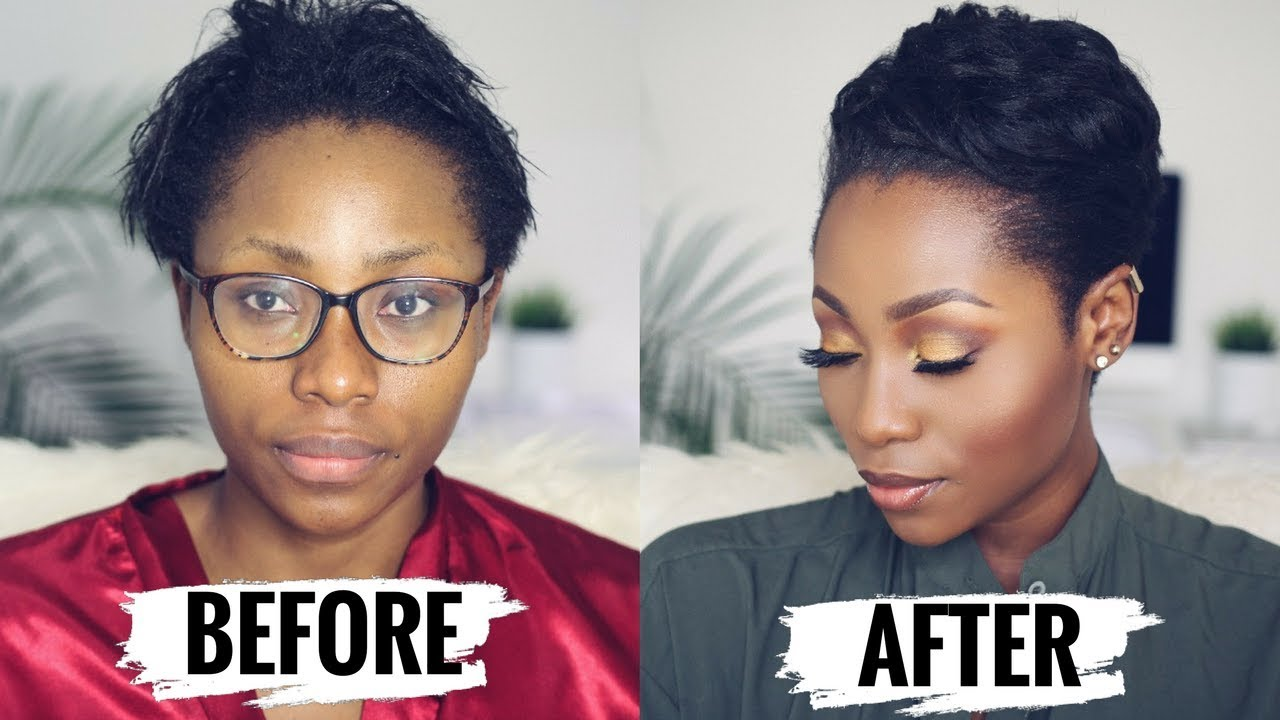 Watch Me Transform How To Style Short Relaxed Hair For Black Women