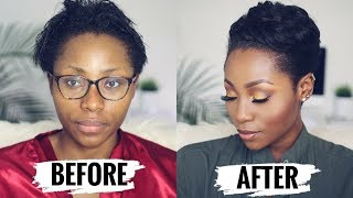 WATCH ME TRANSFORM: HOW TO STYLE SHORT RELAXED HAIR FOR BLACK WOMEN ( START TO FINISH)   DIMMA UMEH