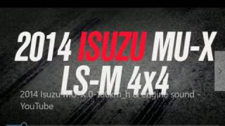 Isuzu MU-X Test Drive, engine & sound