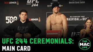 UFC 244 Ceremonial Weigh-Ins: Main Card