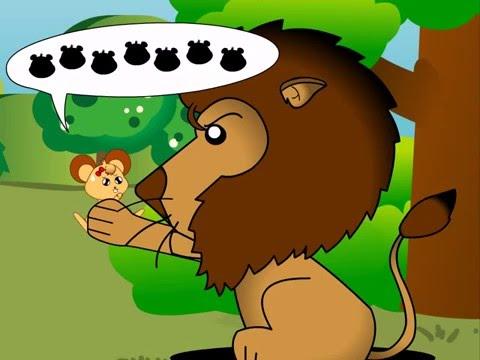 The Lion and the Mouse | ราชสีห์กับหนู พากย์ภาษาอังกฤษ | นิทานก่อนนอน Indysong Kids