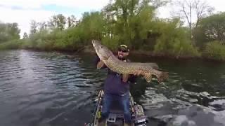 angeln auf Hecht vom Kajak im Frühjahr inkl dicke Mutti