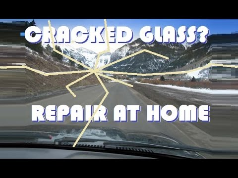 Repair A Cracked Windshield AT HOME!