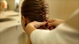 "Плетение ""Колосок""  / French braids with weave"