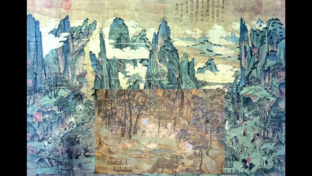 Lecture 4b tang dynasty landscape painting new youtube for Dynasty mural works