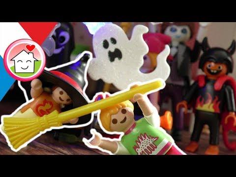 Playmobil en français La fête d´Halloween - Halloween film pour enfant - Famille Hauser