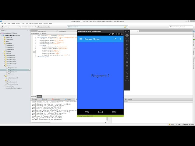 Xamarin Android Tutorial   56   Adding Multiple Fragments to a FrameLayout