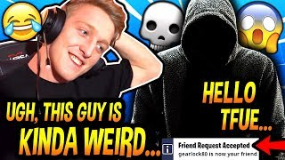 Tfue Decided To SEND A FRIEND REQUEST To This WEIRD Guy & PLAY A GAME With Him AFTER THIS HAPPENED! thumbnail