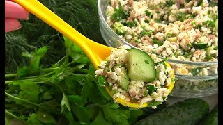Салат Ешь и Худей! Лёгкий салат с Огурцами