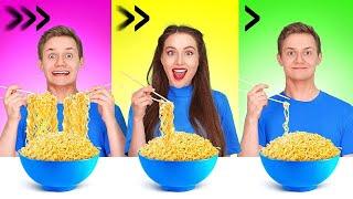 快速、中速或慢速食品大挑戰|| 由123 GO! FOOD提供 試試1秒內吃光! 最快速度吃東西