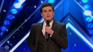 America's Got Talent 2017 The Most Awkward Comedian Wyatt Gray Full Audition S12E03