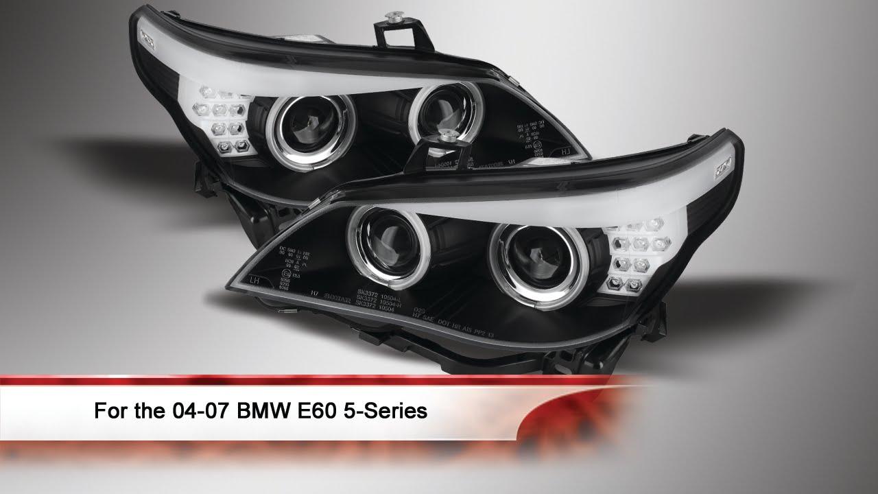 04 07 Bmw E60 5 Series D2s Hid Projector Headlights